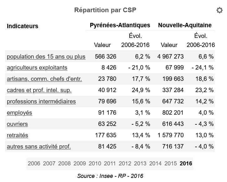 Repartition par CSP